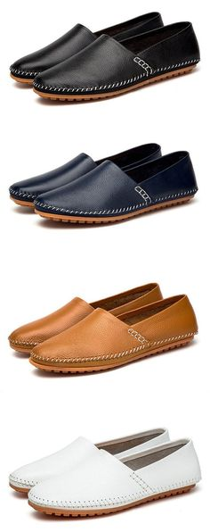 Men Soft Round Toe Driving Loafers Comfortable Slip On Moccasin Shoes  Colección De Zapatos 82a7c10449f