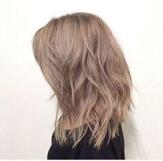 Very light brown hair