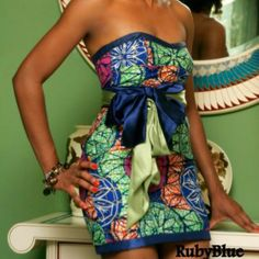 Cute and sassy Ankara style - longer skirt ~African Prints, African women dresses, African fashion styles, african clothing