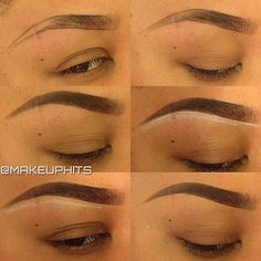 """@makeuphits - ✨Brow Pictorial✨ 1. I outlined my brow using @myvidalux Gel Liner in """"Bronx"""" using my @bdelliumtools 762 angled brush.  2. I lightly filled in my brow with the remaining product on my brush.  3. I completely filled in my brows using @nyxcomsmetics Eyeliner Pencil in Dark Brown.  4. i used @nyxcosmetics Eyeliner Pencil in White and lined my lower brow.  5. I concealed my brow using @maccosmetics cream concealer in NW45.  6. I took my @bdelliumtools 716 brush and light swept…"""