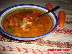 Ciorba de fasole cu afumatura - Bucataria cu noroc Noroc, Ethnic Recipes