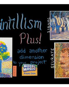 Pointillism lesson plan using slick stix