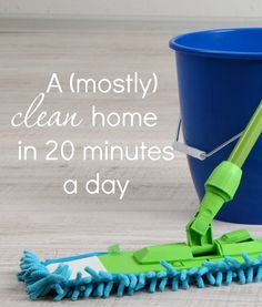 Cleaning can get overwhelming SO quickly, especially with a home full of little ones. But by doing just 20 minutes of focused cleaning a day, you can enjoy a (mostly) clean home every day.