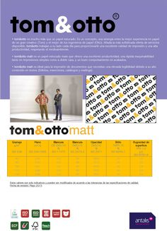 Ficha técnica tom&otto Matt