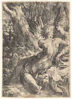 Parmigianino (Girolamo Francesco Maria Mazzola) (Italian, 1503–1540). The Lovers, ca. 1525–30. The Metropolitan Museum of Art, New York. Harris Brisbane Dick Fund, 1934 (26.70.3 [102])
