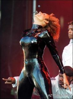"""Melanie Brown (Mel B) on stage wearing a black latex Catsuit"" Latex Suit, Latex Dress, Sexy Latex, Mel B Spice Girl, Spice Girls, Fetish Fashion, Latex Fashion, Leather Catsuit, Ebony Women"