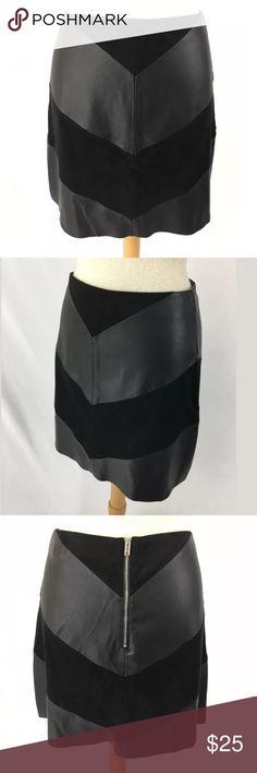Zara faux leather mini SKU: SD15572  Waist: 27 Fabric Content: Faux Leather Skirt Length: 16.25 Zara Skirts Mini