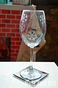 "DIY ""etched"" glasses. What a fun idea!"