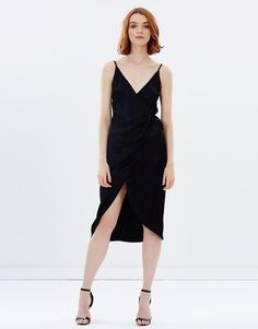 Sultry Nights Wrap Dress