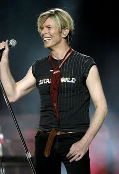 Bowie performs during the Reality Tour – which would turn out to be his last-ever tour – at Madison Square Garden in New York City, 2003.