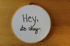 For when you need a reminder. | 19 Motivational Embroideries You'll Actually Want To Own