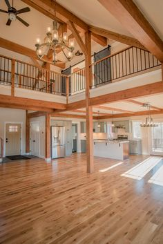 Overlook is a post and beam open concept barn style farmhouse design. Visit to see more photos and floor plans. The Overlook is a post and beam open concept barn style farmhouse design Visit to see more photos and floor plans Metal Barn Homes, Metal Building Homes, Pole Barn Homes, Building A House, Metal Homes Plans, Rustic Barn Homes, Morton Building Homes, Texture Architecture, Classical Architecture