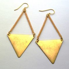 Triangle Earrings Peach now featured on Fab.