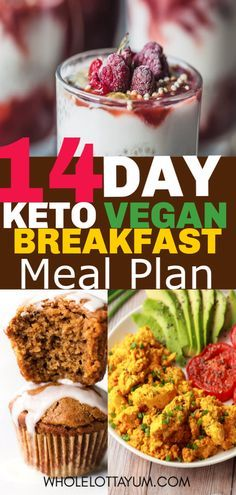 A 14 day Keto vegan meal plan with keto breakfast ideas! You'll love these v… A 14 day Keto vegan meal plan with keto breakfast ideas! You'll love these vegan keto and low carb breakfasts that'll help make your healthy meal planning simple. Keto Vegan, Vegan Keto Recipes, Vegetarian Keto, Diet Recipes, Healthy Recipes, Vegan Recipes For Beginners, Veggie Recipes, Vegan Keto Diet Plan, Flour Recipes