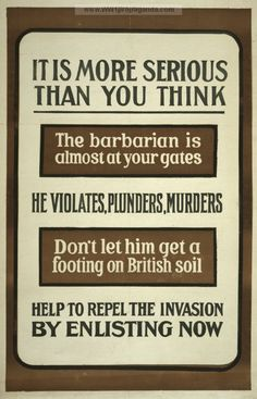 Examples of Propaganda from WW1 | British WW1 Propaganda Posters Page 19