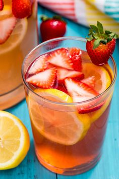 You'll Drink This Spiked Strawberry Lemonade Like You Drink Water