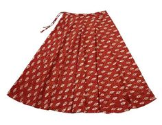 Amazon.com: Long Skirt Maxi Red Block Print Gypsy Cotton Summer Clothes Indian Size XL: Clothing