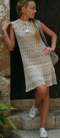 muted florals crochet dress