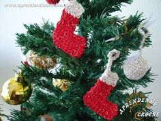 Enfeite de Natal - Mini Botinhas de Croche - Aprendendo Crochê (+playlist)