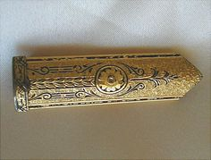 Art Deco Gold Plated Bar Clip by JBPacrat on Etsy