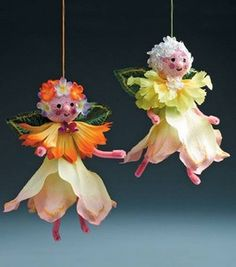 Woodland Flower Fairies: General Crafts Misc.: Joann.com project made with silk flowers