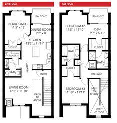 Townhouse Plan E4211 012 014 P L A N S Pinterest