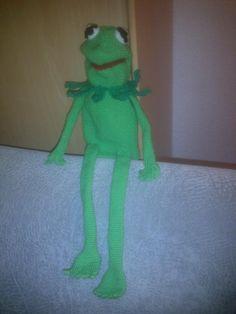 gehäkelte Handpuppe Kermit der Frosch (kostenfreie Häkelanleitung) - Sesamstraße - Handfigur häkeln
