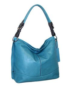 Look at this #zulilyfind! Denim Whoops There She Is Leather Hobo by Nino Bossi Handbags #zulilyfinds