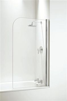 Coram White Curved Shower Bath Screen Chrome Over BathA simple classic design You also have the option of a smaller easier to use screen with a fixed Bathroom Renos, Bathroom Furniture, Small Bathroom, Bathroom Tiling, Bathroom Ideas, Bath Shower Screens, Shower Over Bath, Steam Shower Cabin, Bathroom Collections