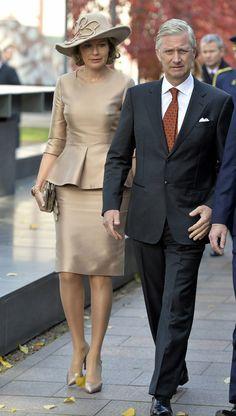 Reyes Felipe y Matilde de Bélgica