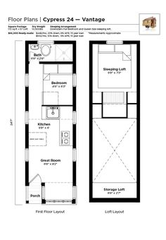 tiny house cypress floor plan alternating tread staircase instead of ladder