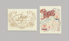 An beautiful typographical love story about Enve & Lope by the incredible Erik Marinovich for Mohawk Fine Papers