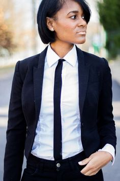 Women+in+Suits+and+Ties   suit & tie by Ashleigh Hutchinson   Lucky Community #androgynous love it #women