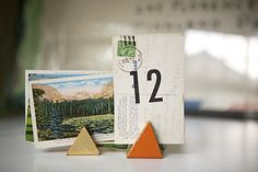 DIY Triangle Table Number Holders Ruffled