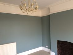 Farrow & Ball Oval Room Blue is the finishing touch for our newly renovated formal sitting room / living room in our Edwardian house