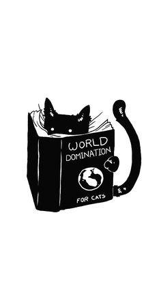 Wallpaper - world domination .for cats Crazy Cat Lady, Crazy Cats, Cat Phone Wallpaper, Illustration Art, Illustrations, Cat Drawing, Cute Cats, Funny Cats, Cats And Kittens
