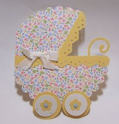 Scallop Circle Die Baby Buggy Card