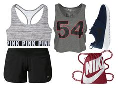 """""""Teen Wolf - Malia Workout Inspired Outfit"""" by sunshine-hippie-girl ❤ liked on Polyvore featuring NIKE, women's clothing, women, female, woman, misses, juniors and plus size clothing"""
