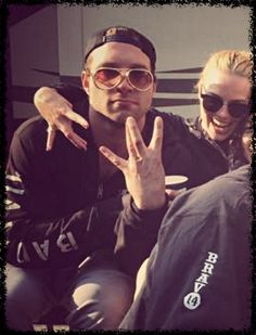 Jai Courtney and Margot Robbie.