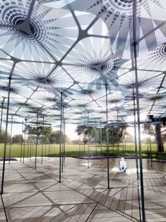 amanda levete erects translucent petals for MPavilion in melbourne