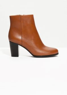 & Other Stories | High Heel Leather Ankle Boots