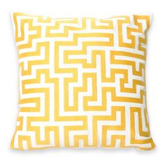 Albers Meander V-2 Pillow Yellow, 28€, now featured on Fab.