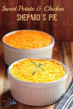Sweet Potato & Chicken Shepard's Pie - Sober Julie Only 247 calories/serving!