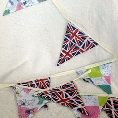 Royal Baby Union Jack Fabric Bunting by MollyFelicityDesigns, £10.00 -available in blue, pink, and neutral