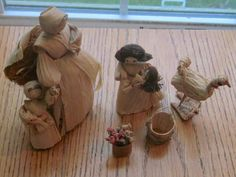 Vintage Handmade Corn Husk Doll Harvest Woman by LeftoverStuff