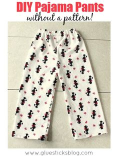 Sewing your own pajama pants is easier without a pattern for a perfect fitting pair every time! I've been making pajama pants and pants for Halloween costumes using this method for several years. It is really very simple.