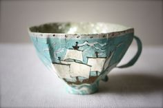 how to make paper mache tea cups by ann wood (love it).