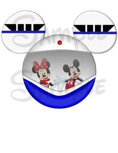 Blue Monorail Mickey head DIGITAL printable diy file on Etsy, $3.00