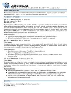 Police officer resume examples  law enforcement Get a job serving and protecting your