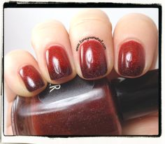 Black Cat Lacquer: Poison Apple Thermal Polish